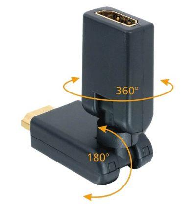 Adapptateur rotatif 360° HDMI Mâle / Femelle Konni