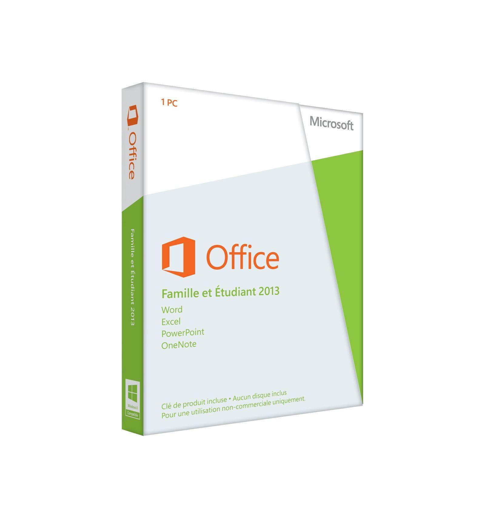 Office 2013 famille etudiant pkc 1 pc 79g 03603 magasin informatique cap 3000 06700 saint - Office famille et etudiant 2013 1 pc ...