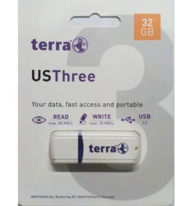 MEMOIRE USB3 USBThree 32 Go blanche 2191278 Terra Wortmann