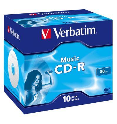 CDR 700 MO Musique pack de 10 43365 Verbatim