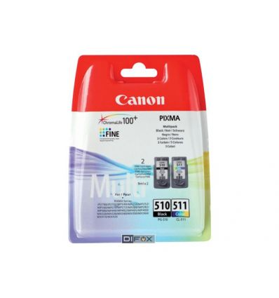 Cartouche pack de 2 - PG-510 noir, CL-511 couleurs (cyan, magenta, jaune) Canon
