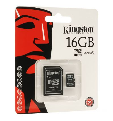 Carte µSD + adapteur SD 16 Go HC4 SDC4/16GB Kingston