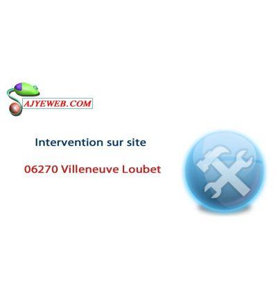 Forfait dépannage informatique déplacement sur site Villeneuve-Loubet et jusqu'à 1 Heure de main d'œuvre