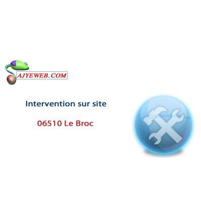Forfait dépannage informatique déplacement sur site Le Broc et jusqu'à 1 Heure de main d'œuvre
